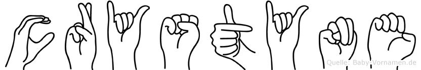 Crystyne in Fingersprache für Gehörlose