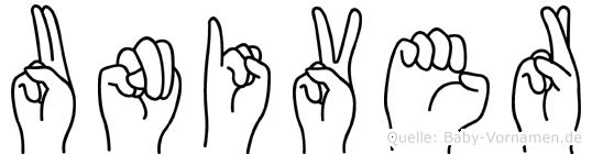 Univer in Fingersprache für Gehörlose