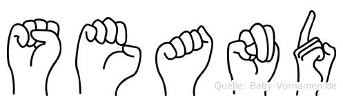 Seand im Fingeralphabet der Deutschen Gebärdensprache