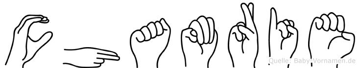 Chamrie in Fingersprache für Gehörlose