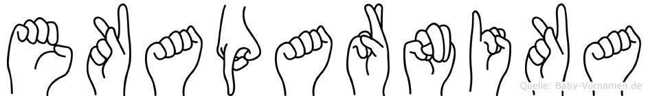 Ekaparnika im Fingeralphabet der Deutschen Gebärdensprache