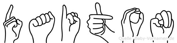 Daiton im Fingeralphabet der Deutschen Gebärdensprache