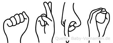 Arpo in Fingersprache für Gehörlose