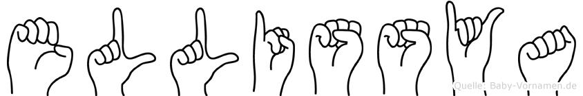 Ellissya im Fingeralphabet der Deutschen Gebärdensprache