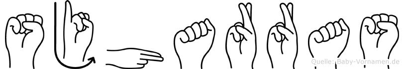 Sjharras im Fingeralphabet der Deutschen Gebärdensprache