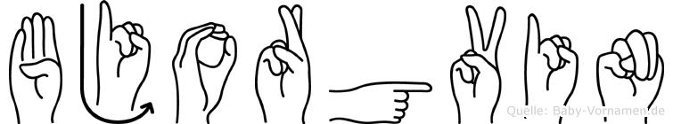Bjorgvin in Fingersprache für Gehörlose