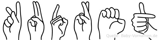 Kudret in Fingersprache für Gehörlose