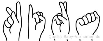 Kira in Fingersprache für Gehörlose