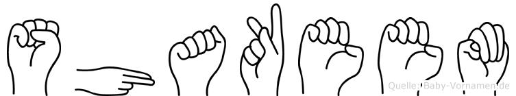 Shakeem im Fingeralphabet der Deutschen Gebärdensprache