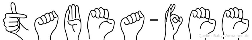 Tabea-Fee im Fingeralphabet der Deutschen Gebärdensprache