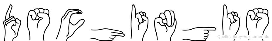 Dschingis im Fingeralphabet der Deutschen Gebärdensprache