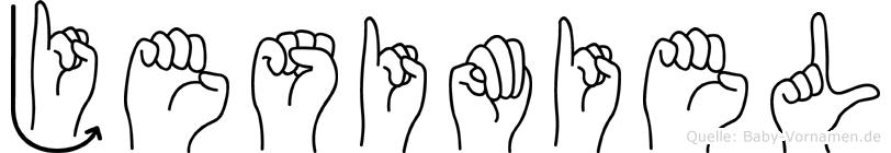 Jesimiel in Fingersprache für Gehörlose