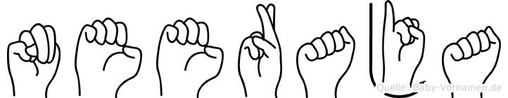 Neeraja in Fingersprache für Gehörlose