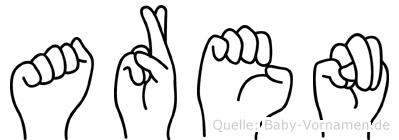 Aren im Fingeralphabet der Deutschen Gebärdensprache