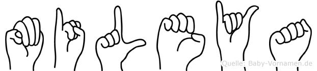 Mileya in Fingersprache für Gehörlose