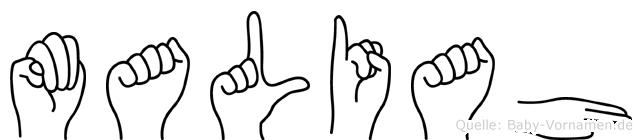 Maliah in Fingersprache für Gehörlose