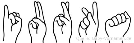 Iurka im Fingeralphabet der Deutschen Gebärdensprache