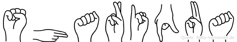 Shariqua in Fingersprache für Gehörlose