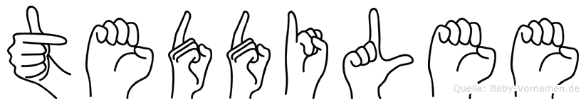 Teddilee in Fingersprache für Gehörlose