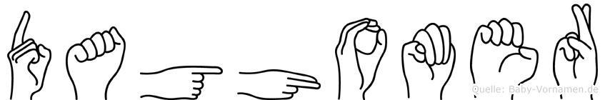 Daghomer in Fingersprache für Gehörlose