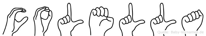 Colella im Fingeralphabet der Deutschen Gebärdensprache