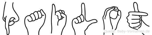Pailot in Fingersprache für Gehörlose
