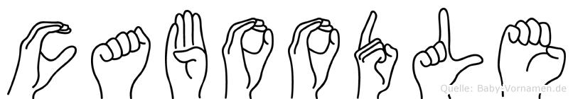 Caboodle im Fingeralphabet der Deutschen Gebärdensprache