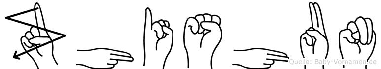 Zhishun im Fingeralphabet der Deutschen Gebärdensprache