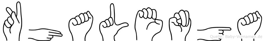 Khalenga in Fingersprache f�r Geh�rlose