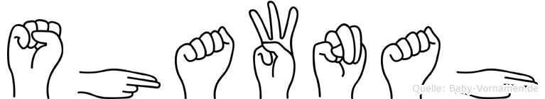 Shawnah in Fingersprache für Gehörlose