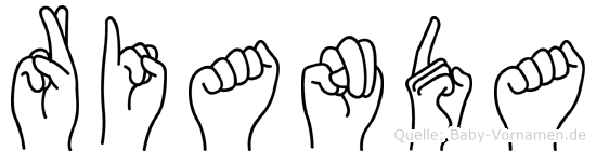 Rianda in Fingersprache für Gehörlose