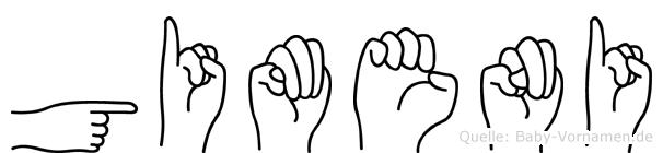 Gimeni in Fingersprache für Gehörlose