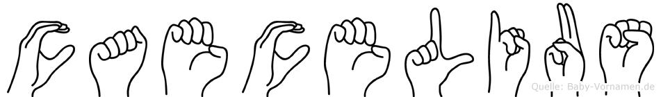 Caecelius im Fingeralphabet der Deutschen Gebärdensprache
