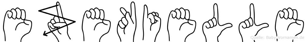 Ezekielle in Fingersprache für Gehörlose