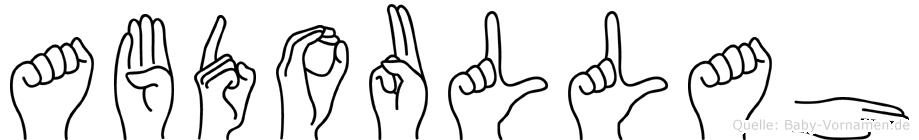 Abdoullah in Fingersprache für Gehörlose