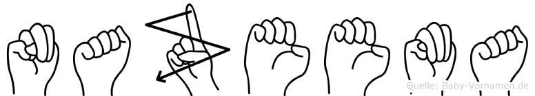 Nazeema in Fingersprache für Gehörlose