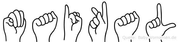 Maikal in Fingersprache für Gehörlose