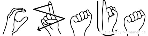 Czaja im Fingeralphabet der Deutschen Gebärdensprache