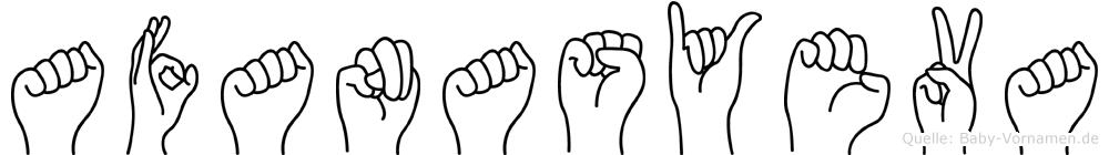 Afanasyeva im Fingeralphabet der Deutschen Gebärdensprache