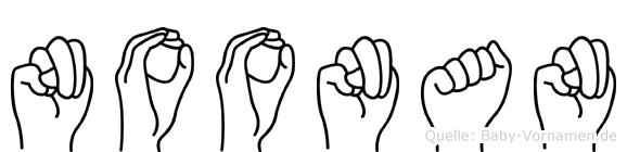 Noonan in Fingersprache für Gehörlose