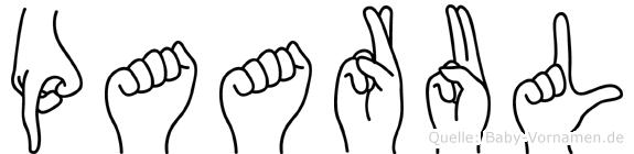 Paarul in Fingersprache für Gehörlose