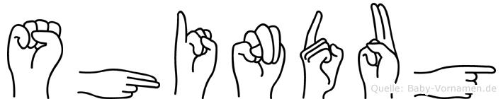 Shindug in Fingersprache für Gehörlose