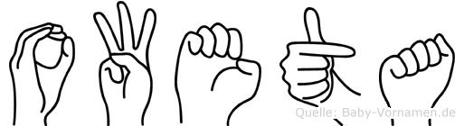 Oweta im Fingeralphabet der Deutschen Gebärdensprache