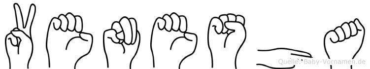 Venesha im Fingeralphabet der Deutschen Gebärdensprache
