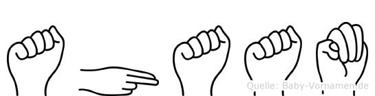 Ahaam im Fingeralphabet der Deutschen Gebärdensprache