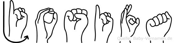 Josifa im Fingeralphabet der Deutschen Gebärdensprache