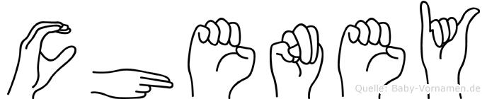 Cheney in Fingersprache für Gehörlose