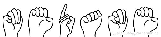 Medane im Fingeralphabet der Deutschen Gebärdensprache