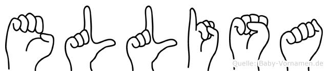 Ellisa im Fingeralphabet der Deutschen Gebärdensprache