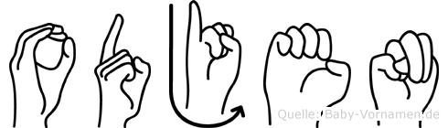Odjen in Fingersprache für Gehörlose